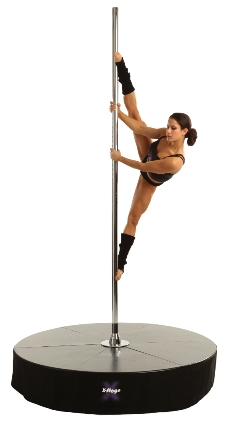 X-Stage Dance Pole with Dancer